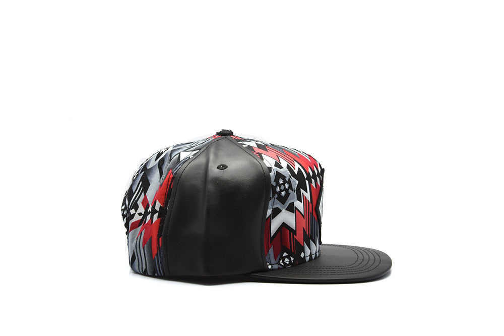 Defyant Leather Aztec Snapback