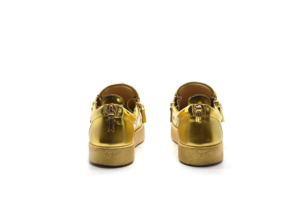 Guissepi Zanotti Low top gold sneaker