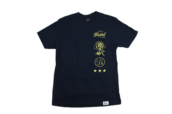 Lyfe Stacked Navy Tee