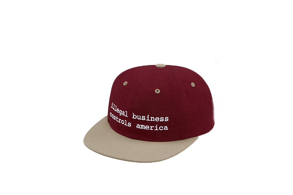 "Supreme ""Illegal Business Controls America"" Snapback"