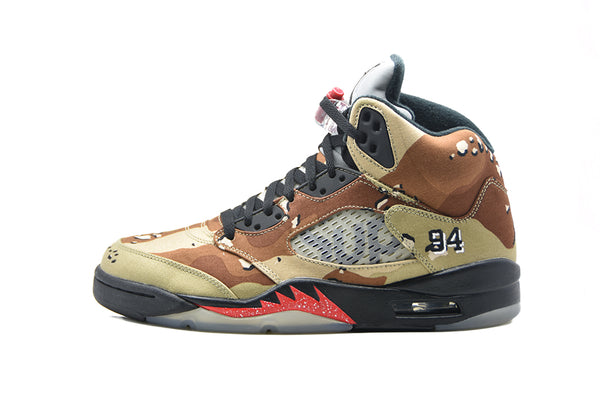 "Supreme x Air Jordan 5 Retro ""Desert Camo"""