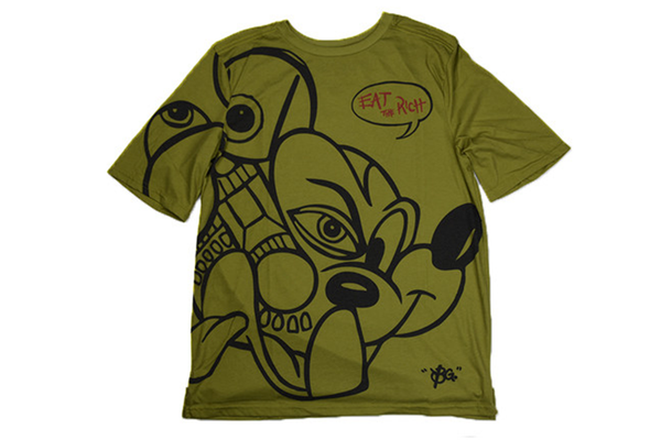 All City Art Wear Eat The Rich Mickey Roomy Tee
