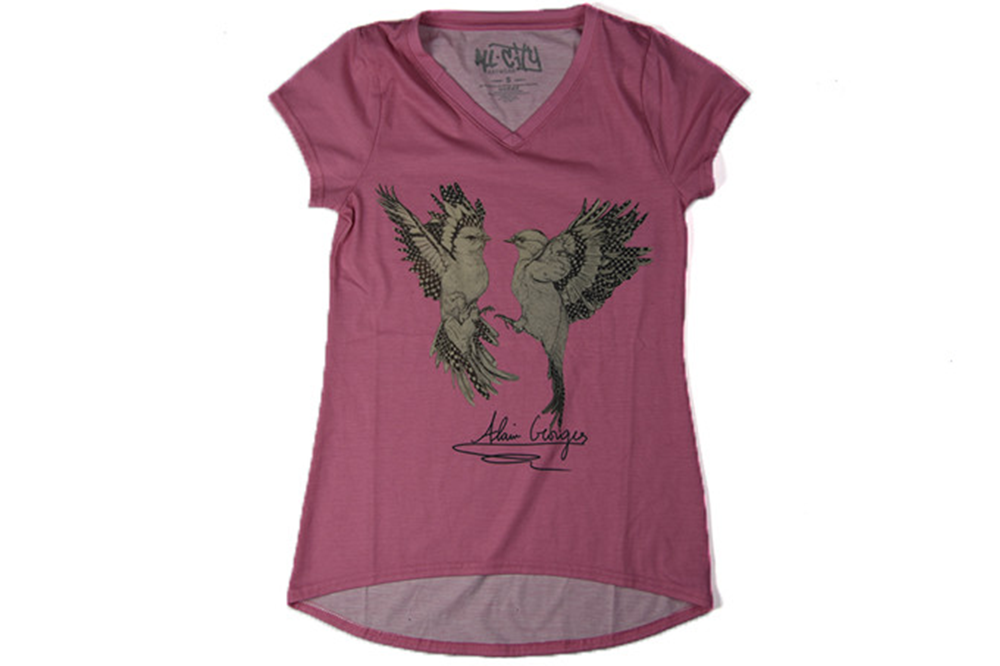 All City Art Wear Love Birds Womans Tee