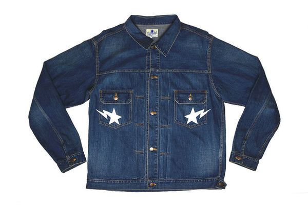 A Bathing Ape Bape Stars Denim Jacket