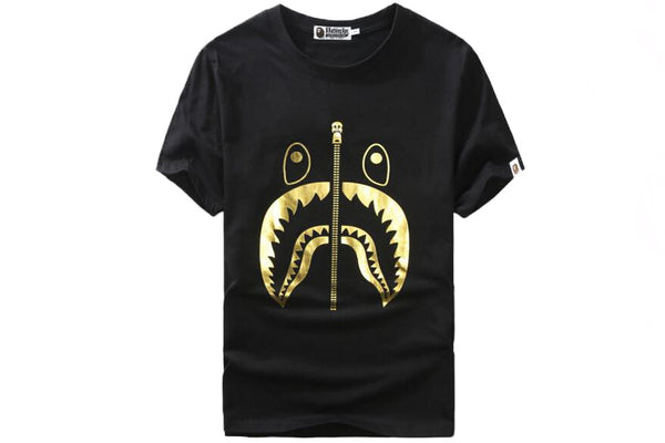 Bape Gold Shark Foil Tee