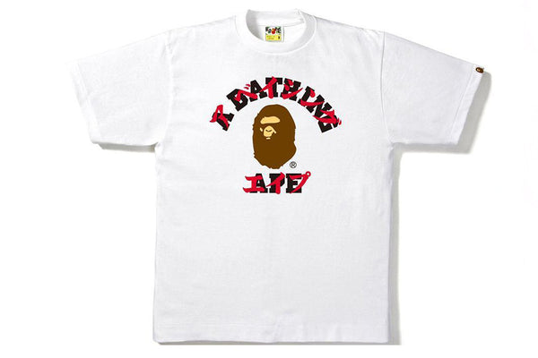 A Bathing Ape Katakana College T-Shirt