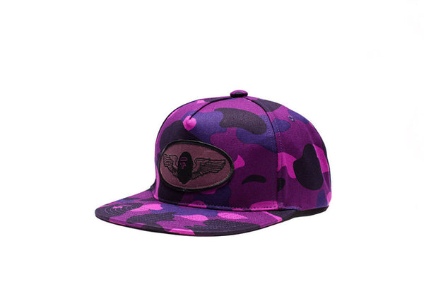 A Bathing Ape Color Camo Snap Back Cap