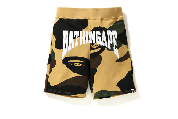 A Bathing Ape Giant 1st Camo Sweat Shorts