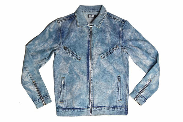 FE&R Biker Denim Jacket