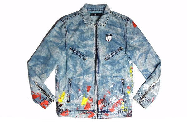 FE&R Custom Biker Denim Jacket