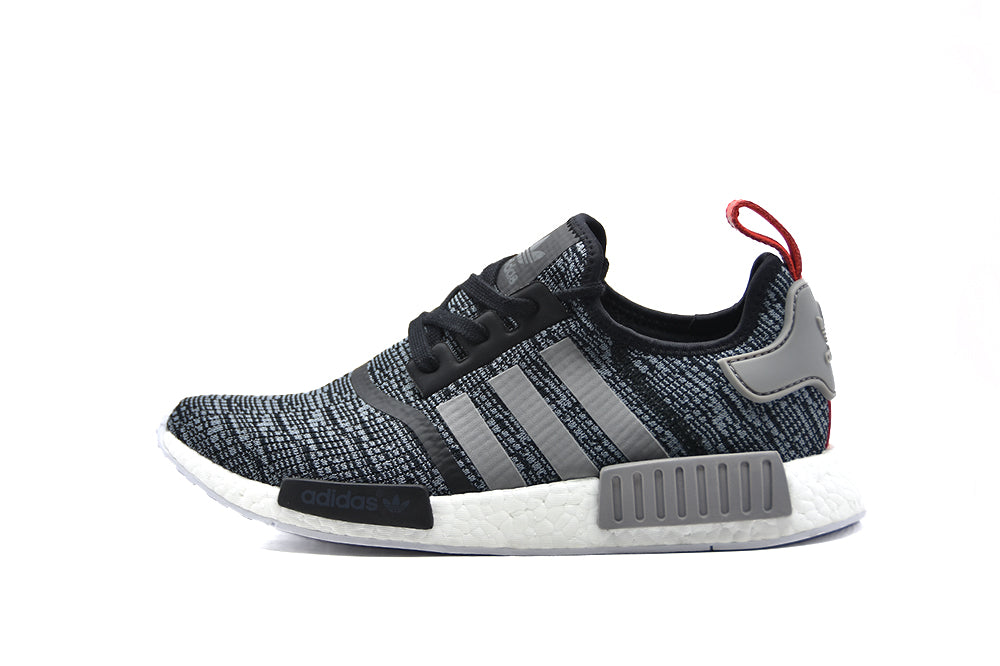 HOT! Adidas NMD R1 Runner Glitch Camo Grey/White Sizes 8