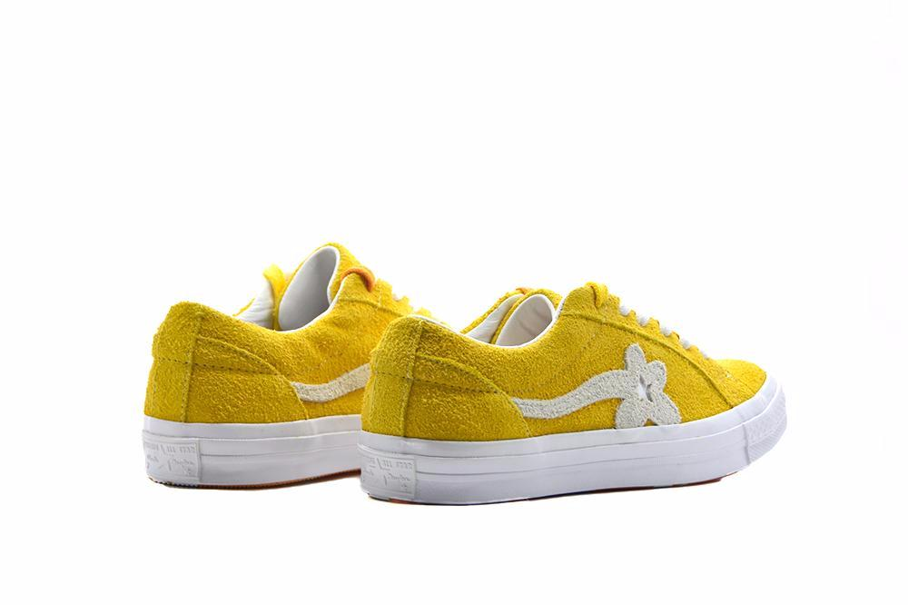 converse one star suede yellow