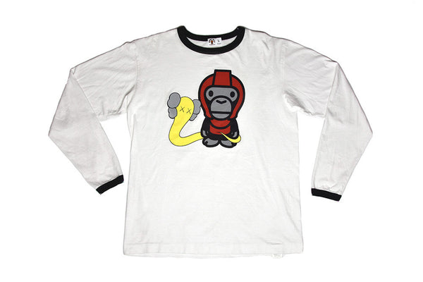 A Bathing Ape Bape x Kaws Bendy L/S Tee
