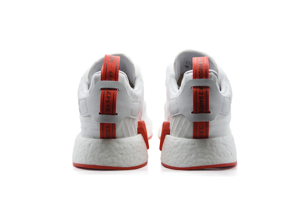 "Adidas NMD R2 PK Two Toned ""White/Core Red"""