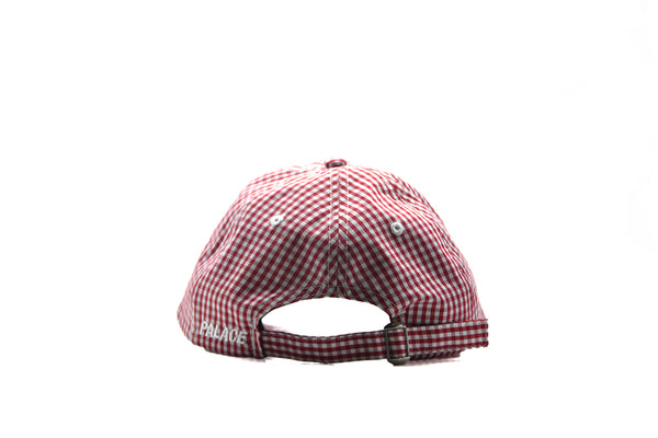 Palace P 6‑Panel Hat Gingham Red Cap Checker