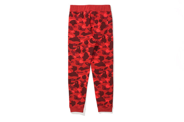 A Bathing Ape Color Camo Slim Sweat Pants