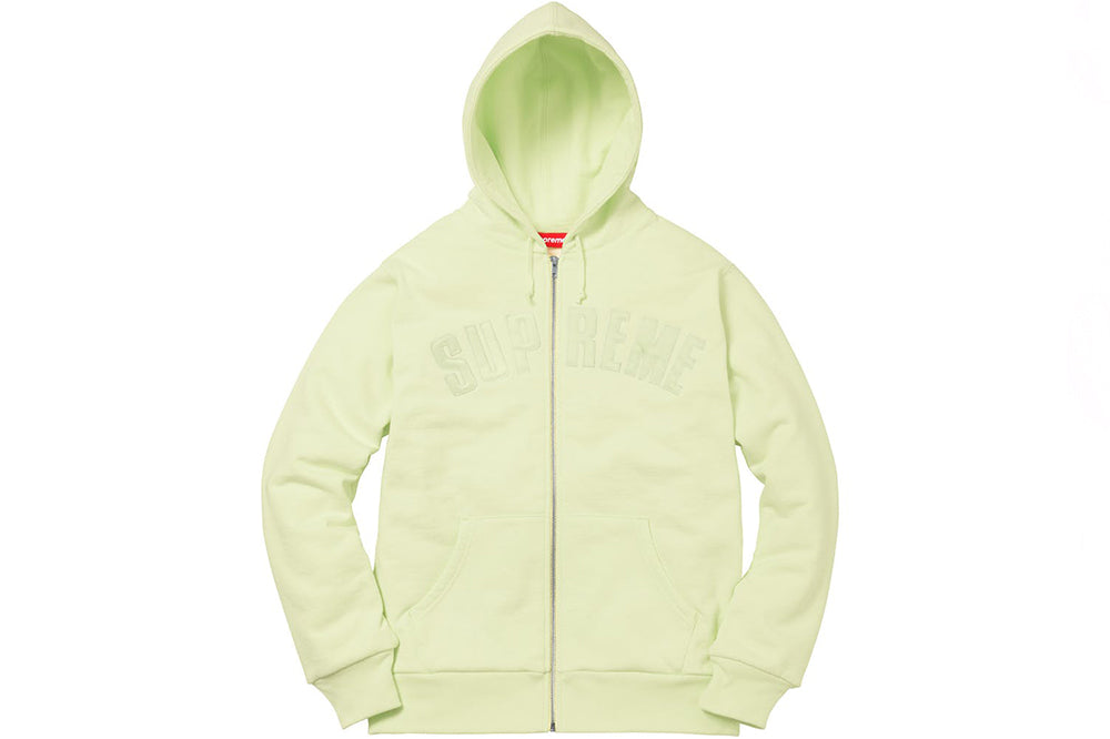 Supreme Arc Logo Thermal Zip-Up Sweater (Lime)