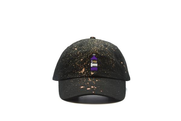 The High Rise Purp Bleached Dad Hat