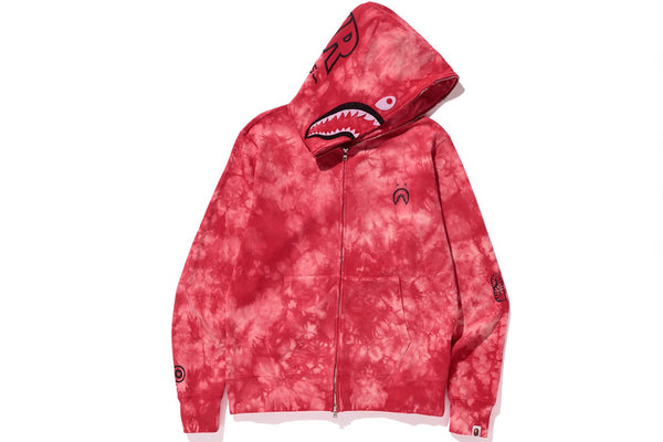 A Bathing Ape Tie Dye Shark Wide Full Zip Hoodie