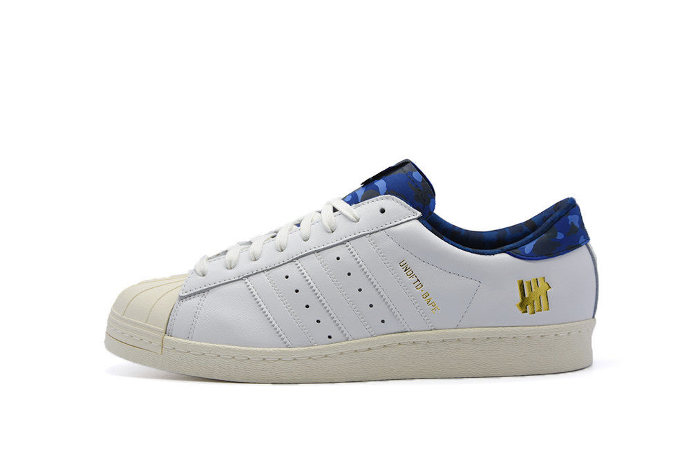 "Adidas x Undefeated x Bape Superstar 80s ""White"""