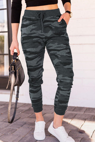 Grey Camouflage Drawsting Joggers