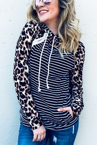 Piece by Piece Pullover in Leopard