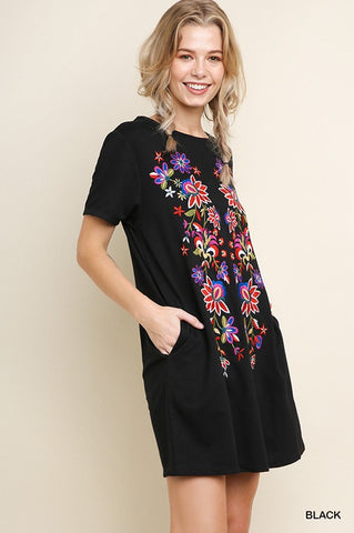 Hotel California Dress with embroidery