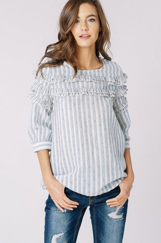 Angel Ruffle Top