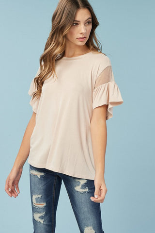 Barley Rose Top with bell sleeve