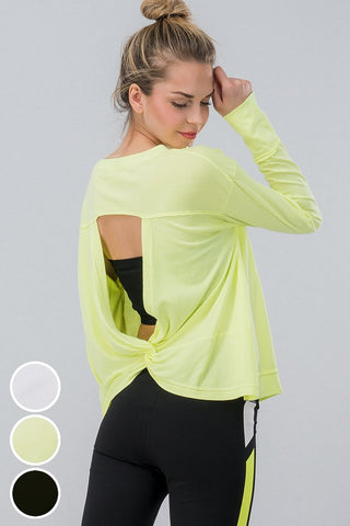 Open Back Long Sleeve Active Wear top