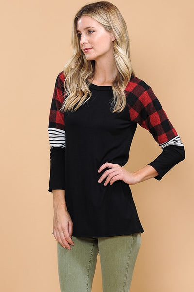 Precious Long Sleeve top with red