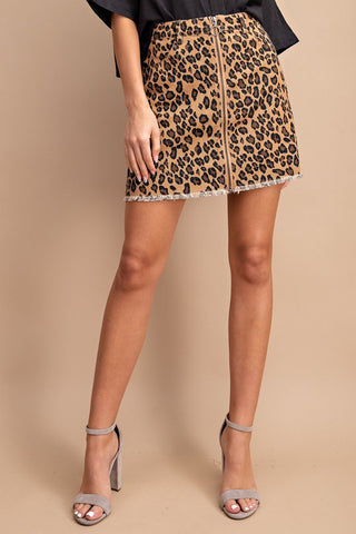 Luxurious Leopard Skirt