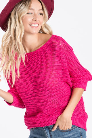 Keli Fuchsia Sweater