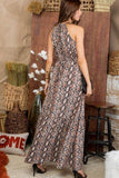 Intentions Snake Maxi Dress
