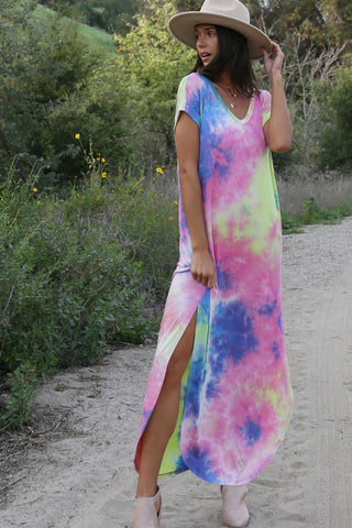 Blinding Lights Maxi Dress, Tie Dyed