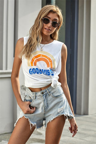 Good Vibes Sleeveless Tank