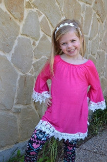 My Little Girl Tunic in Pink or Black