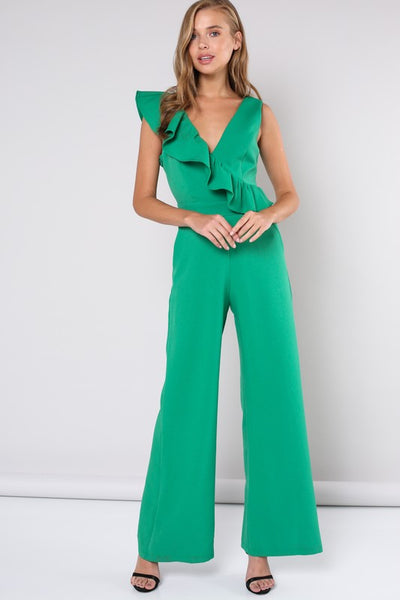 Jump for my Love Jumpsuit with ruffles