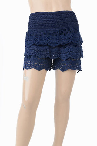 Kid Black Lace Shorts