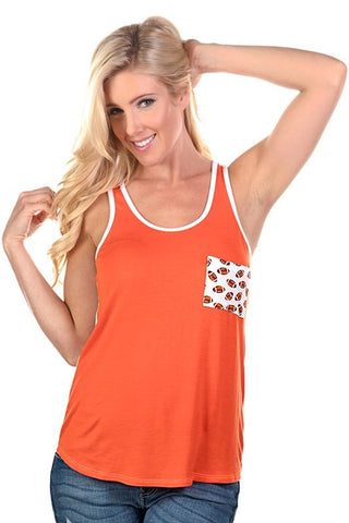 Touchdown orange top