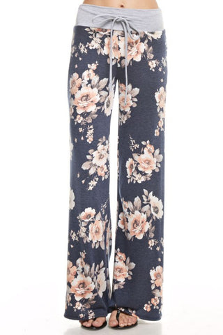 Craving You Floral Charcoal Pant