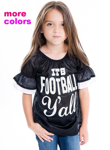 It's Football Yall GIRL'S TOP