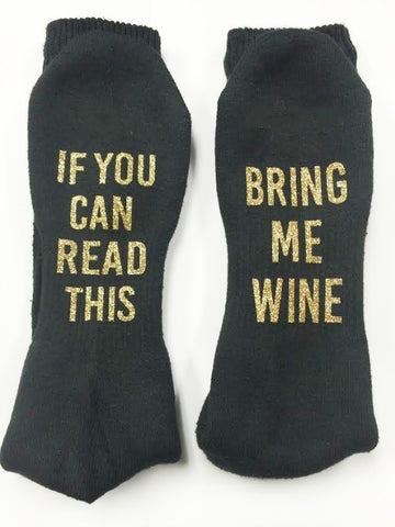 Bring me Wine black socks