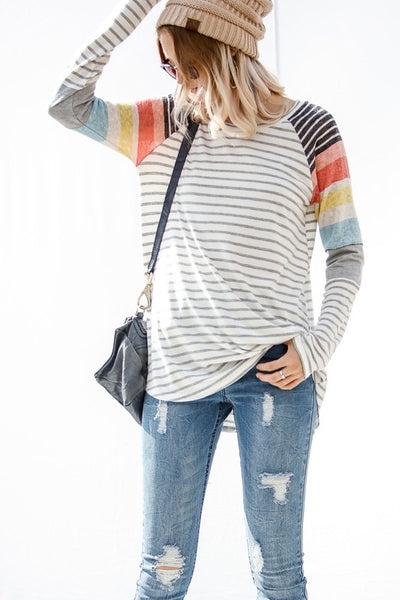 Allie Striped Long Sleeve top