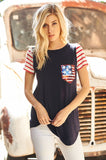 It's Independence Day navy top