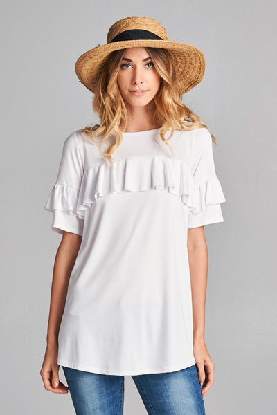 Brandy Ruffle Top