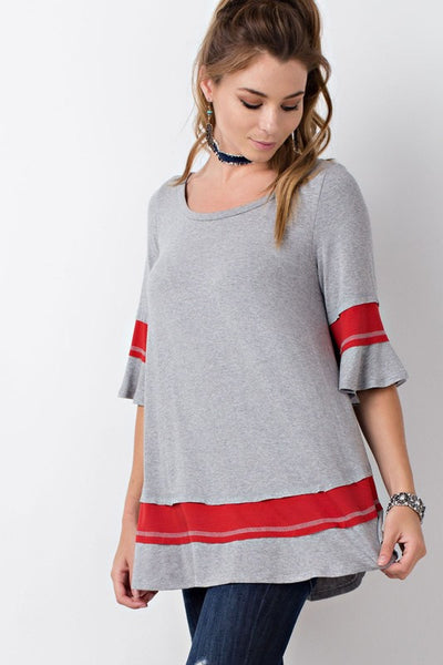 Carolina Top with stripe