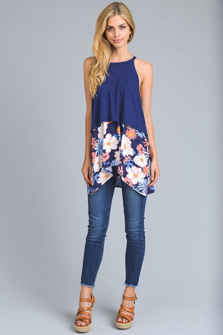 Connected By Love Floral Sleeveless top