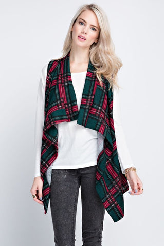 Sing Me Back Home Plaid Vest