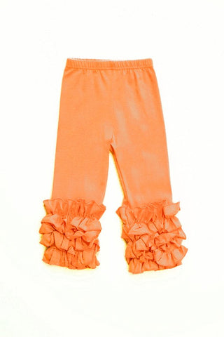 Orange ruffle pants